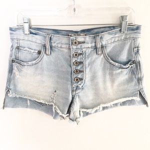 FREE PEOPLE Runway Slouch Cutoff Denim Jean Shorts